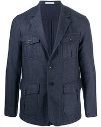 Темно-синяя шерстяная полевая куртка от Boglioli