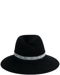 Женская темно-синяя шерстяная шляпа от Maison Michel