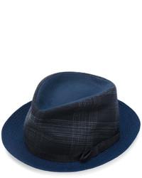 Мужская темно-синяя шляпа в шотландскую клетку от Etro