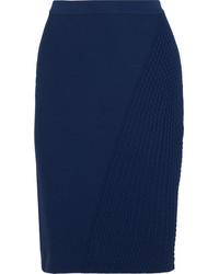 Темно-синяя юбка-карандаш от Fendi