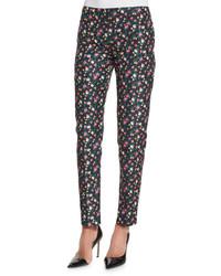 узкие брюки с цветочным принтом original 4264311