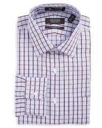 Фиолетовая классическая рубашка в шотландскую клетку