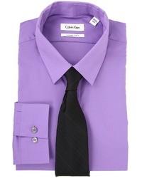 Фиолетовая классическая рубашка