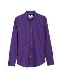 Фиолетовая рубашка с длинным рукавом