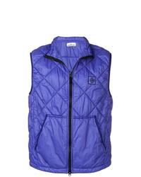 Фиолетовая стеганая куртка без рукавов
