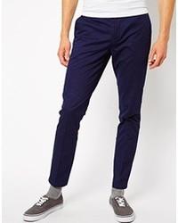Фиолетовые брюки чинос