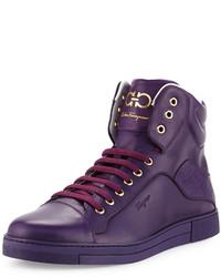 фиолетовые высокие кеды original 2075955
