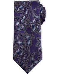 """Фиолетовый галстук с """"огурцами"""""""