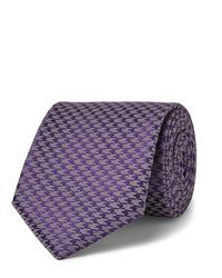 Мужской фиолетовый галстук с принтом от Charvet
