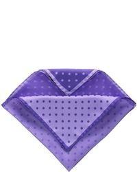 Фиолетовый нагрудный платок в горошек
