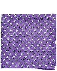 Фиолетовый нагрудный платок с принтом