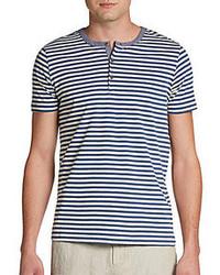 футболка на пуговицах в горизонтальную полоску original 2604600