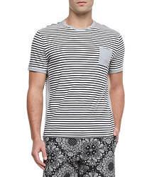 футболка с круглым вырезом в горизонтальную полоску original 390134