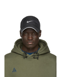 Мужская черная бейсболка с принтом от Nike