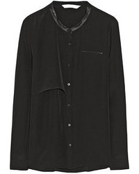 черная блуза на пуговицах original 4299539