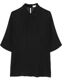 черная блуза с коротким рукавом original 1289823