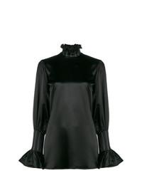 Черная блузка с длинным рукавом от Beaufille