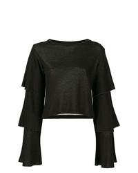 Черная блузка с длинным рукавом от Dondup