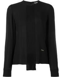 Женская черная блузка с длинным рукавом от Dsquared2