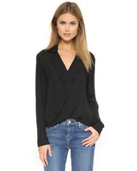 Черная блузка с длинным рукавом от L'Agence