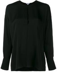 Черная блузка с длинным рукавом от Vince