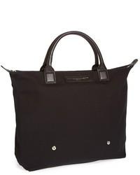 Черная большая сумка из плотной ткани