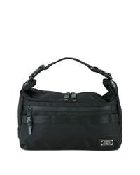 Мужская черная большая сумка из плотной ткани от As2ov