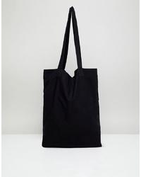 Мужская черная большая сумка из плотной ткани от ASOS DESIGN