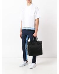 Мужская черная большая сумка из плотной ткани от Prada