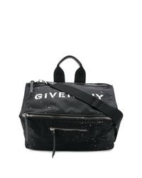 Мужская черная большая сумка из плотной ткани от Givenchy