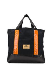Мужская черная большая сумка из плотной ткани от Junya Watanabe MAN