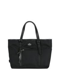 Мужская черная большая сумка из плотной ткани от Makavelic