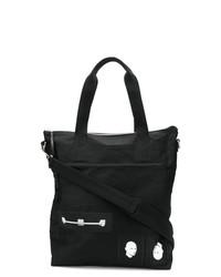 Мужская черная большая сумка из плотной ткани от Rick Owens DRKSHDW