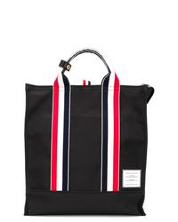 Мужская черная большая сумка из плотной ткани от Thom Browne