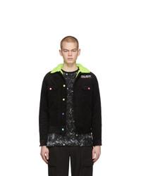 Мужская черная вельветовая куртка-рубашка от Clot