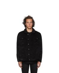 Мужская черная вельветовая куртка-рубашка от Naked and Famous Denim