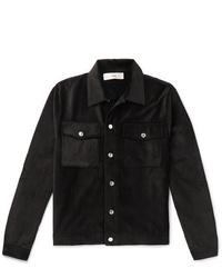 Мужская черная вельветовая куртка-рубашка от Séfr