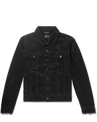 Мужская черная вельветовая куртка-рубашка от Saint Laurent