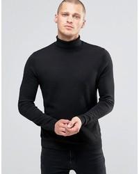 Мужская черная водолазка от Asos