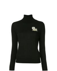 Женская черная водолазка от Boutique Moschino