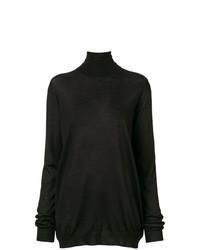 Женская черная водолазка от Prada