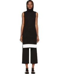 Женская черная вязаная водолазка от Calvin Klein Collection