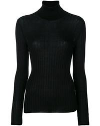 Женская черная вязаная водолазка от Gucci