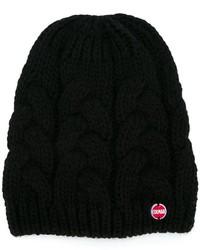 Детская черная вязаная шапка для девочке