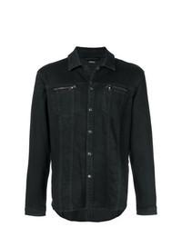 Черная джинсовая куртка-рубашка