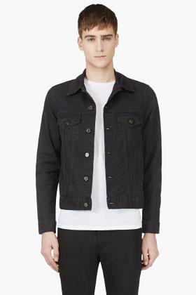 4d7339d35ee ... Мужская черная джинсовая куртка от Acne Studios ...
