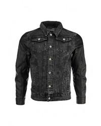 Мужская черная джинсовая куртка от Alcott