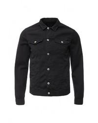 Мужская черная джинсовая куртка от Armani Jeans