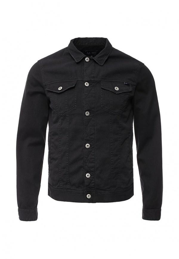 Мужская черная джинсовая куртка от Armani Jeans   Где купить и с чем ... 1e819258e8e
