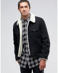 Мужская черная джинсовая куртка от Asos